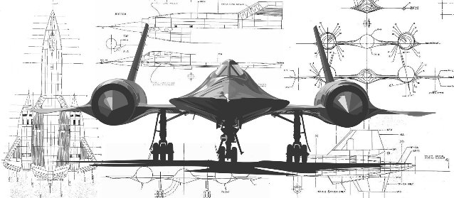 Image Gallery sr 71 blueprints
