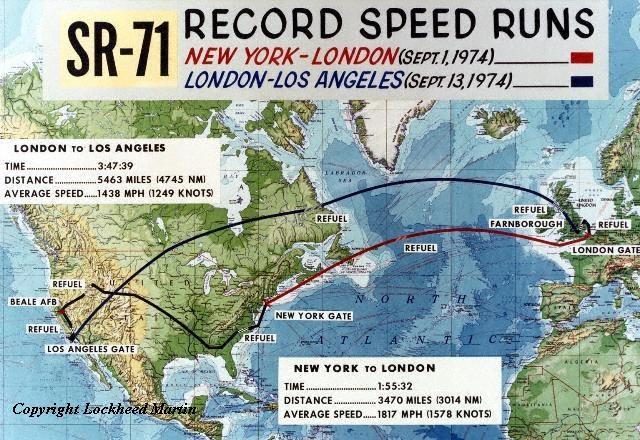 Lockheed SR-71 Black Bird Recmap